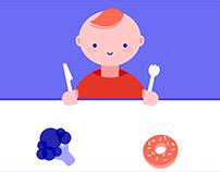 Donut Vegetable Animation