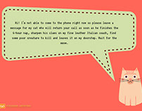 Voicemail greeting examples on behance funny voicemail greeting for business m4hsunfo