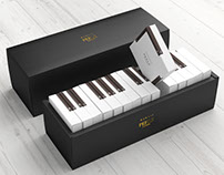 Piano cake packaging - MARAIS