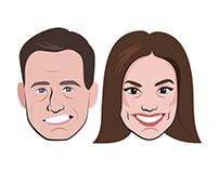 Emojis para Twitter de Matías Prats y Mónica Carrillo