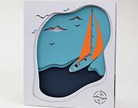 Paper Sailing // 50x57cm