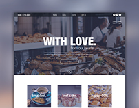 "Landing page for Bakery ""LOVE.CAKE"""