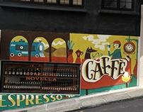 Caffè - Wall mural, Hong Kong