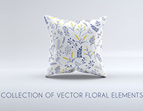 Collection of Vector Floral Elements