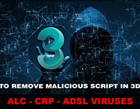 How To Remove Malicious Script In 3dsMax: ALC CRD ADSL