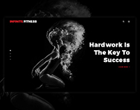 Infinite Fitness, Gym, Sports Website Design | FREE PSD