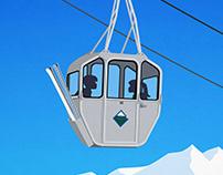 Whistler Vintage Gondola Poster