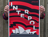 Interpol Australia gig posters