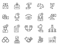 20 Corruption Vector Icons