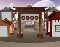 3D Ancient architecture - 虎门客栈之苹果记茶楼