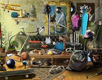 Cleaning Apartament - hidden object games