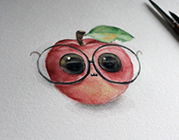 WIP! Geeky apple
