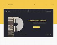 Panovdesign. Website redesign for interior design.