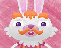 Test Cartoon Character Rabbit Dad