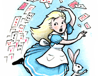 Alice in Wonderland Mini Illustrations
