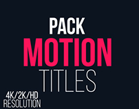 Motion Titles Pack, After Effects Templates