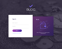 Budget planing app - Sign In/Sign Up page