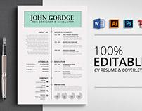 Job CV Resume Word Template