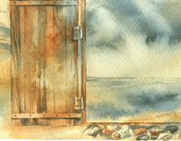 door in the summer
