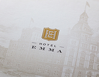 Hotel Emma logos and select branding