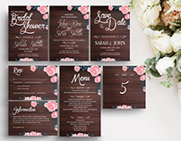 Rustic Wooden Invitation Suite