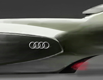 the AUDI snowmobile