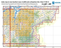 Index maps for Southern Laos Orthophoto 1:5,000 Tiles