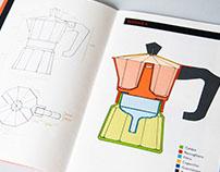 una caffettiera | illustrations analysis of a coffeepot