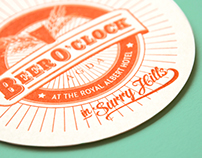 AGDA's Beer O'Clock Letterpress coasters & invite