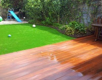 Hardwood Deck and Synthetic turf