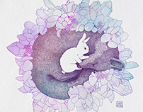 2017, Rabbit and fox, illustration
