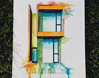 Architectural Watercolor Paintings