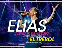 Diseño de flyer para el cantante Elias Rampello.