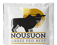 Nousuon Grass Fed Beef Packaging