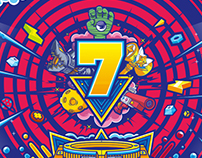 英雄联盟六周年狂欢盛典现场视觉设计