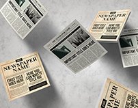 Newspaper Trifold Brochure