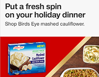 Banner ads for Targets Holiday Baking campaign