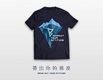 態度企業T-shirt