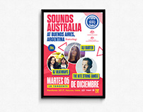 Poster Sound Australia at Bs. As. Argentina