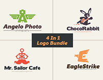4 in 1 Logo Templates Bundle