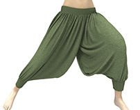 Dynamic Marvelous Designer 3D Harem Pants