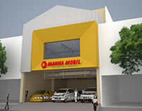 Desain Arsitektur Showroom Mobil Bekas Surabaya
