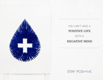 embroidery on paper : stay positive