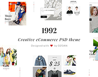 1992 | Creative eCommerce PSD Template