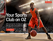 OZ - Landing Page for Sports (2016)