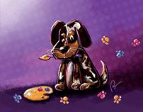 Little painter dog