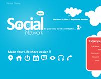 Social Network UI design