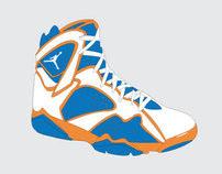 Jordan 7's NBA Inspired