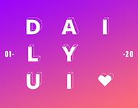 Daily UI 1-20