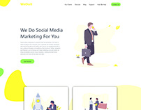 Social Media Marketer - Landing Page